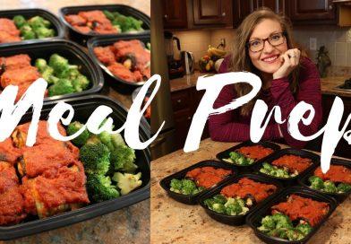 Eggplant Rollatini || Plant Based Meal Prep || Steph and Adam