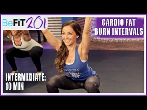 BeFiT 201: 10 min Cardio Fat Burn Interval Workout | Intermediate- Courtney Prather