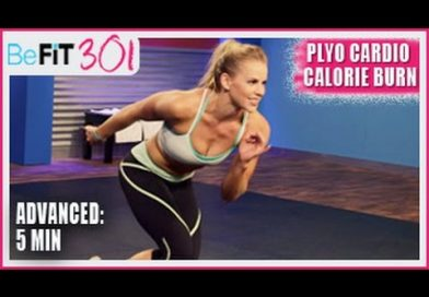 BeFiT 301 Series- 5 Min Plyo Cardio Calorie Burn Workout- Maddy Curley
